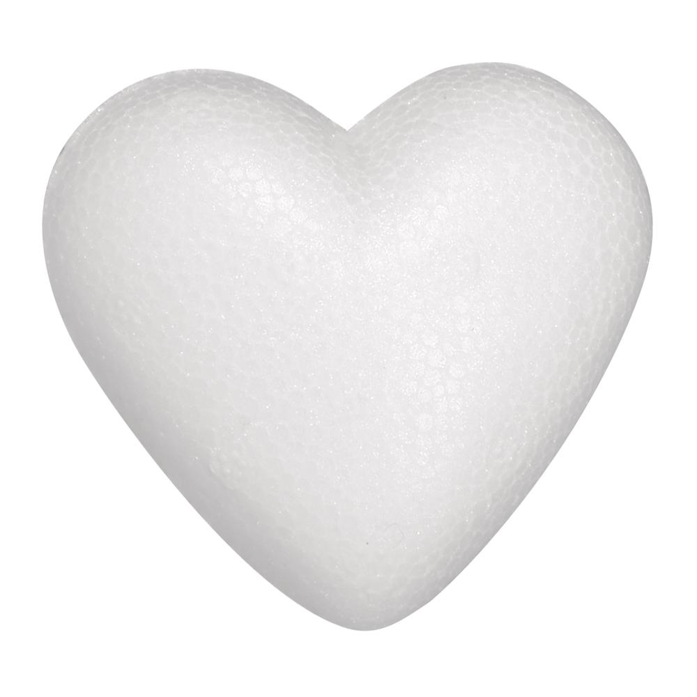 Styropor-Herz, flach, 9cm, 3 St. eingeschweißt
