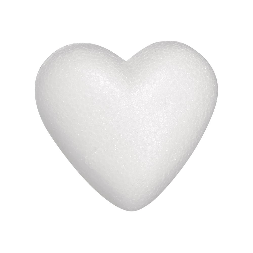 Styropor-Herz, flach, 5cm, 3 St. eingeschweißt