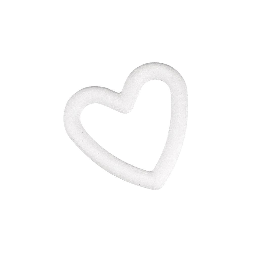 Styropor-Herz, durchbrochen, 15 cm, Kleinabnahme