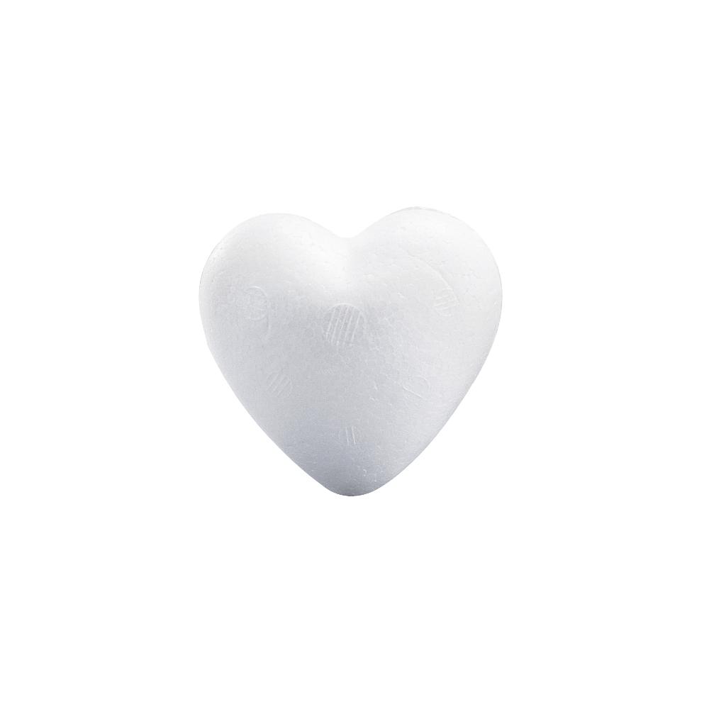 Styropor-Herz, 15 cm, voll, Kleinabnahme