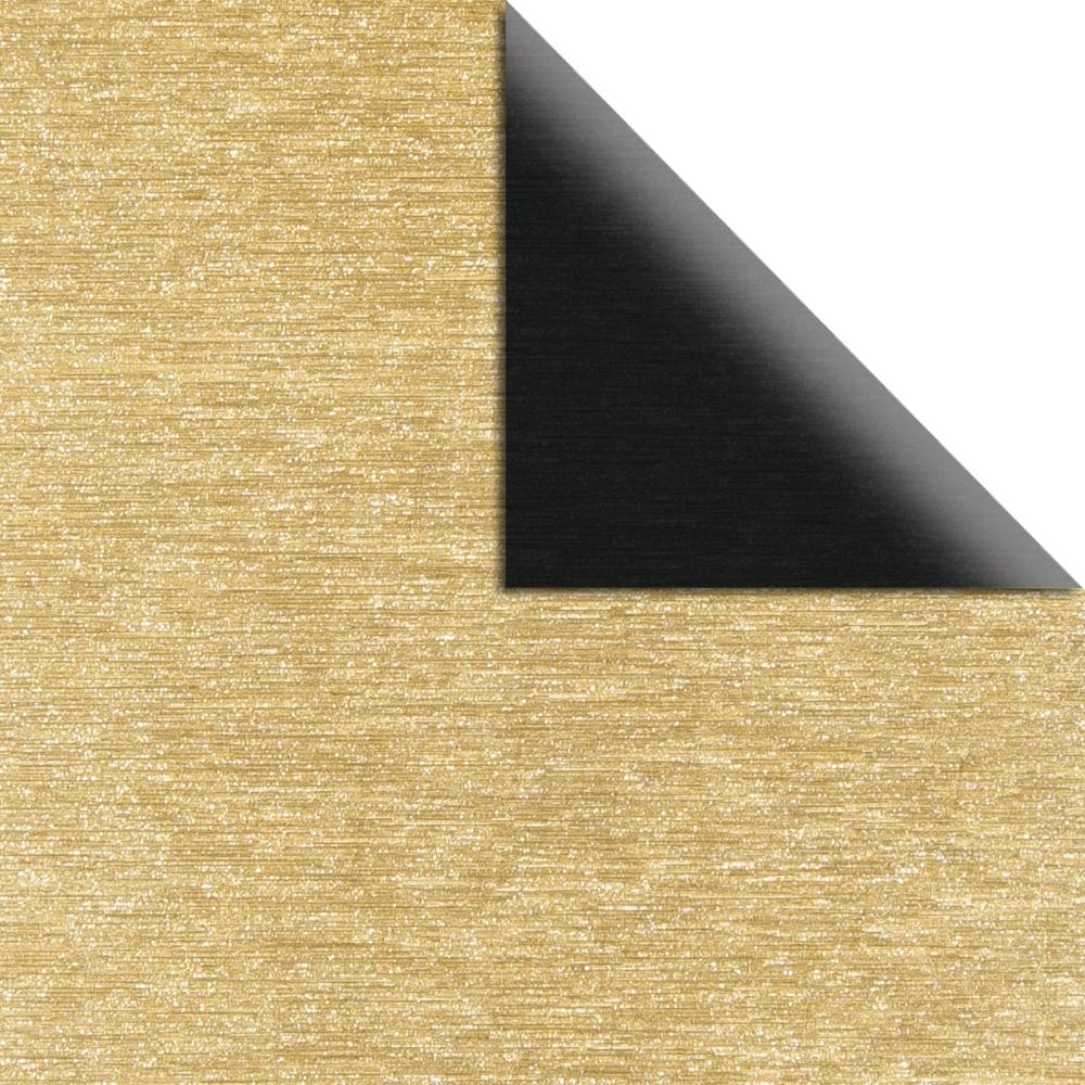 Scrap.-Papier Metalleffekt gebürstet, 30,5x30,5cm, 250g/m2, 2-seitig, schwarz/gold