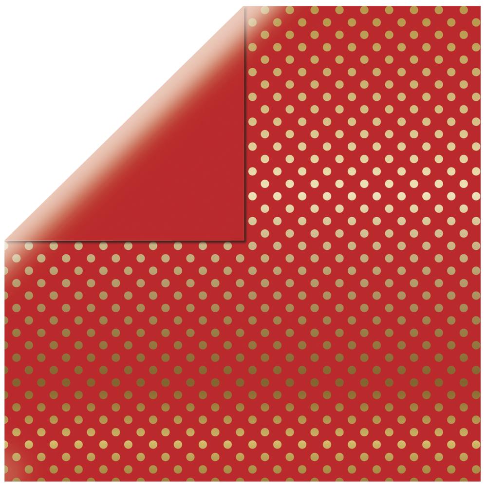 Scrapbookingpapier  Gold Foil Dots , 30,5x30,5cm, 180g/m2