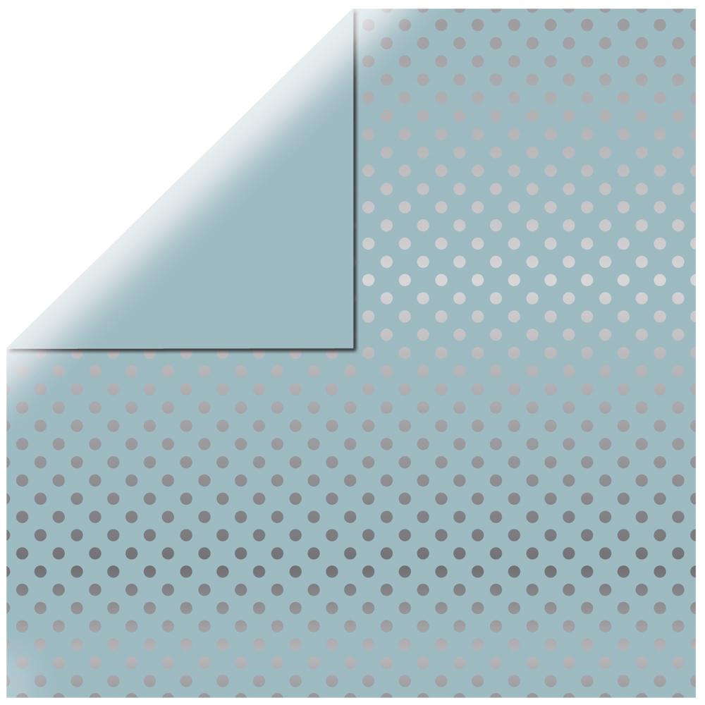 Scrapbookingpapier  Silver Foil Dots , 30,5x30,5cm, 180g/m2