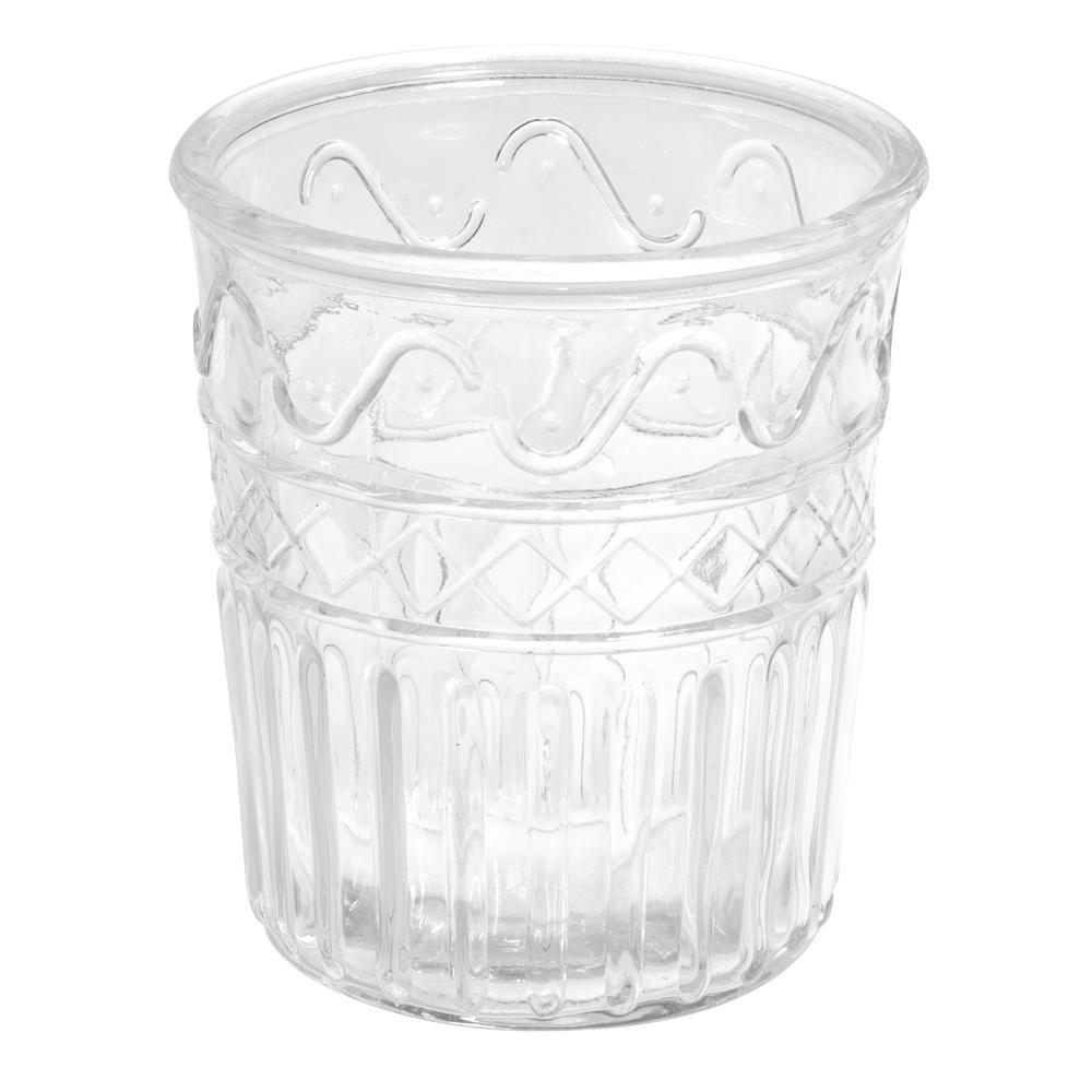 Glas Vase , 13,5cm ø, 15cm, Nostalgie