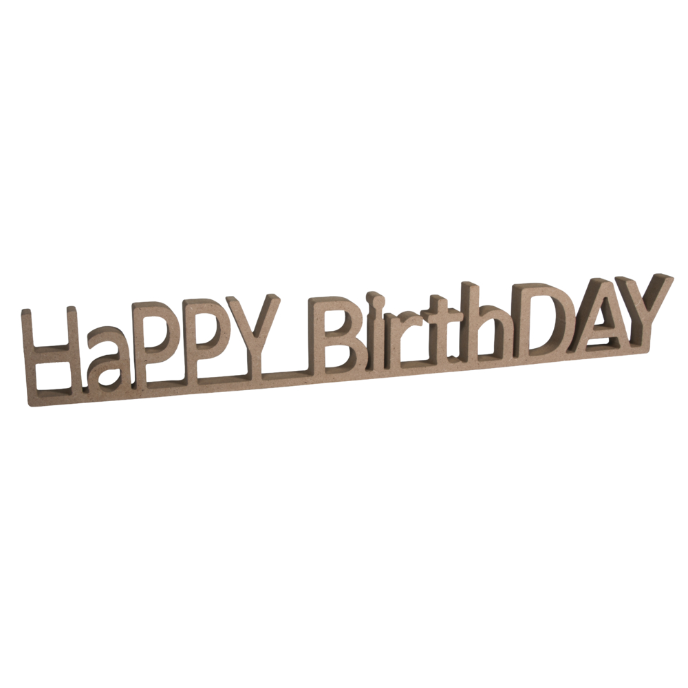 MDF Wort HaPPY BirthDAY,FSC Mix Credit, 42x1,5x5,5cm