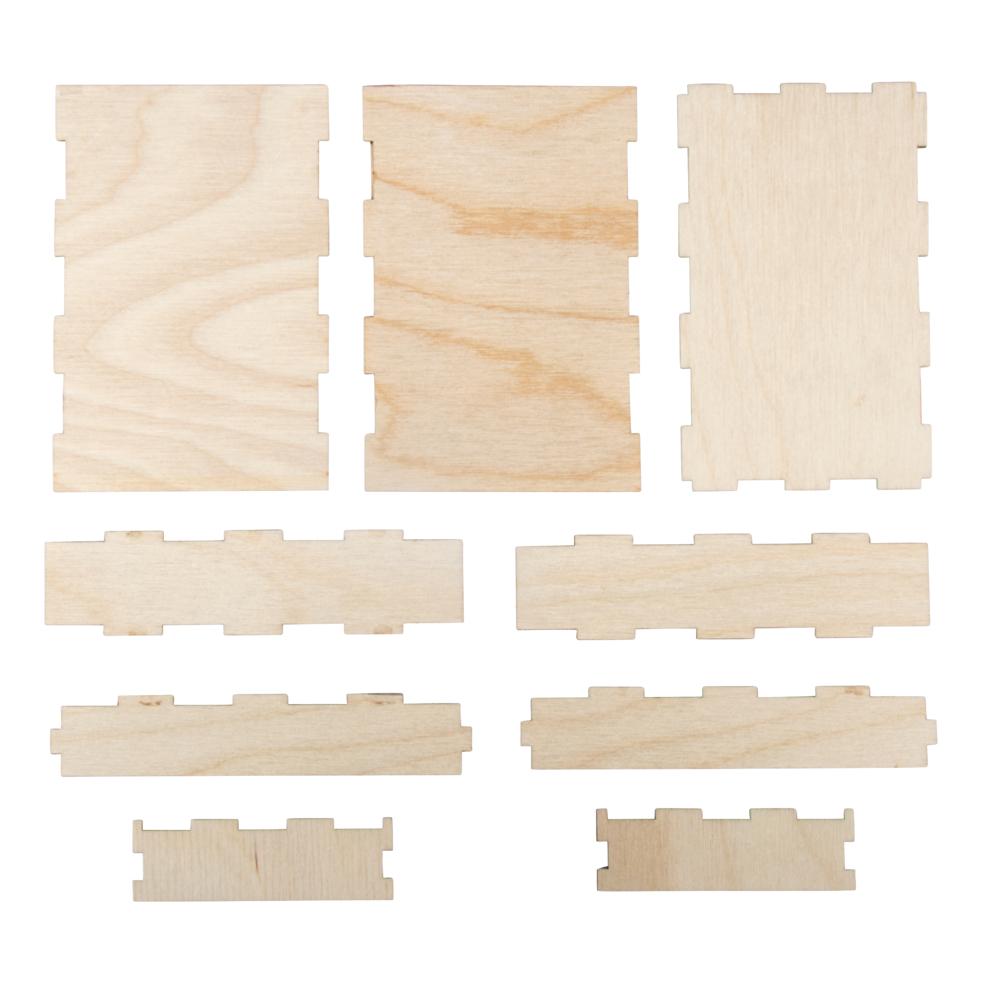 Holzbox zum Aufbauen, FSC Mix Credit, 11,5x7,8x3cm, Box 2Stück, natur