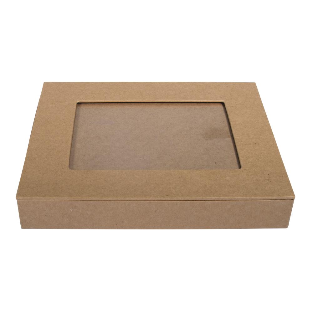 Pappm. Box m. Fotoalbum,FSC Rec.100%, 18x15x3cm, f. Fotos bis 11x15cm, kraft