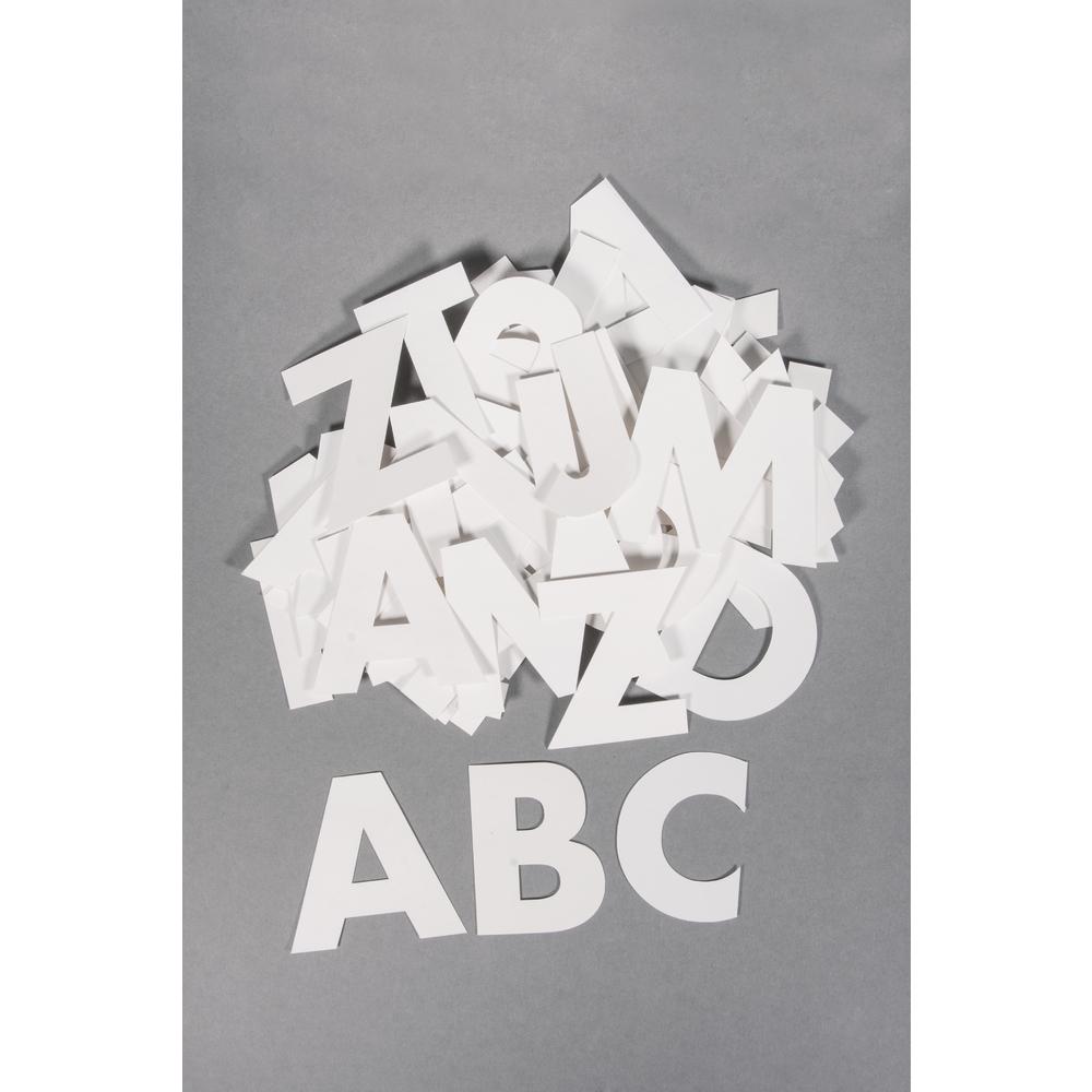 Papier  ABC , 7cm, sortiert, 250 g/m2, PVC-Box 79Stück
