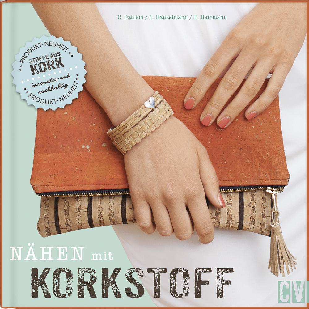 Buch: Nähen mit Korkstoff, Hardcover, nur in deutscher Sprache