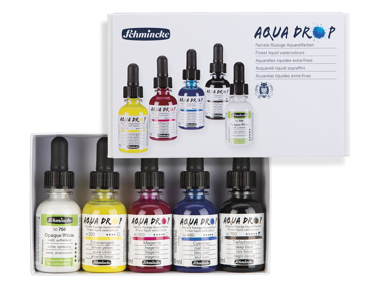 Aquarellfarbe Schmincke Aqua Drop 5x30ml