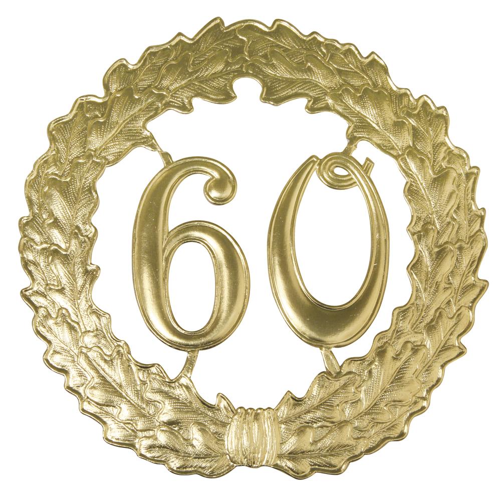 Zahlenkranz 60, 18cm ø, gold