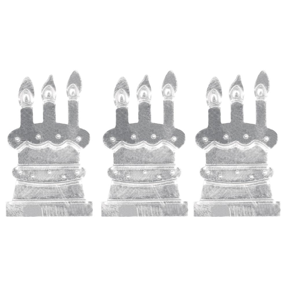 Metall- Torte m. Klebepunkt, 2,3x4cm, SB-Btl 9Stück